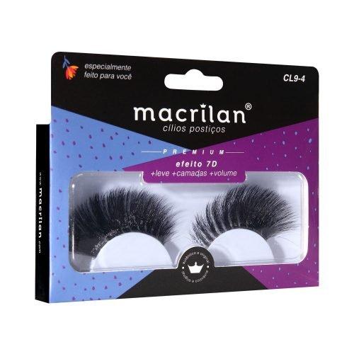 Cílios postiços CL9-4 - Efeito 7D - Super Volume Macrilan