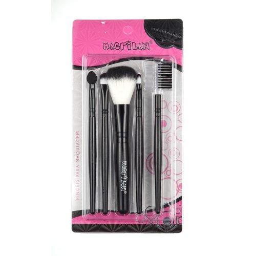 Kit KP3-1 com 5 pincéis para maquiagem Macrilan