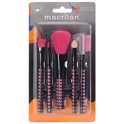 Kit KP5-35 com 5 pincéis para maquiagem Macrilan
