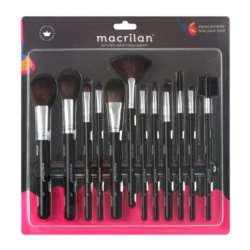 Kit KP9-1A com 12 pincéis para maquiagem Macrilan