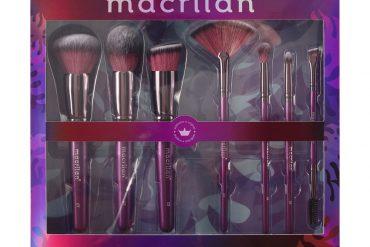 Kit ED005 Violet com 7 pincéis profissionais para maquiagem Macrilan