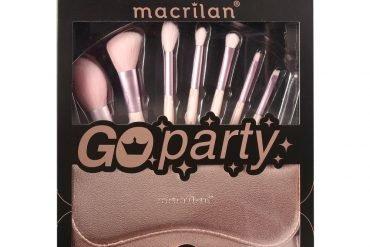 Kit ED007 com 7 pincéis para Maquiagem - Go Party Macrilan