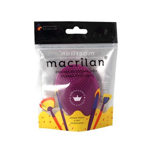 Esponja CP-01 de silicone para limpeza de pincéis Macrilan3