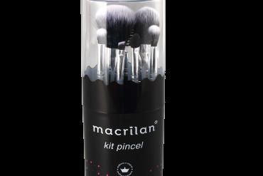 Kit KP9-3com 7 pincéis para maquiagem Macrilan