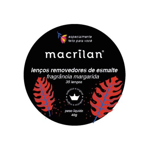 Lenços RE-01 removedores de esmalte Macrilan