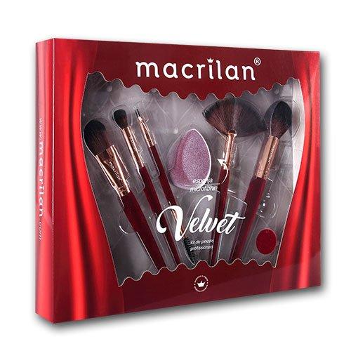 Kit ED010B Velvet Vermelho Macrilan